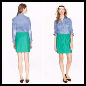 j. crew // crinkle city mini skirt sidewalk teal